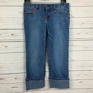 Paris Blues Jeans Capri Wide Cuff Straight Leg
